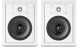 JBL 专业控制128W优质入墙式扬声器,成对出售,白色,8英寸(约20.32厘米)