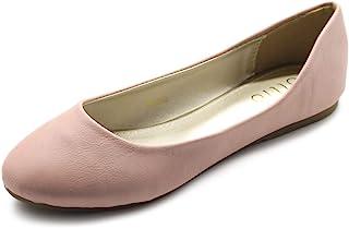 ollio 女式鞋子芭蕾基本浅舒适低跟平底鞋