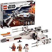 LEGO 乐高 75301 星球大战卢克天行者 X 翼战斗机玩具,带莉亚公主和 R2-D2 机器人模型