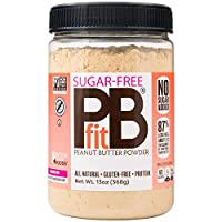 PBfit Sugar-Free Peanut Butter Powder, 13 Ounce, Peanut Butter Powder from Real Roasted Pressed Peanuts, Good Source of Protein, Natural Ingredients