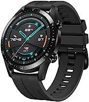 HUAWEI 华为 GT 2 智能手表(46mm全彩AMOLED,SpO2监测,心率测量,音乐播放和蓝牙电话,5ATM防水,GPS),亚光黑