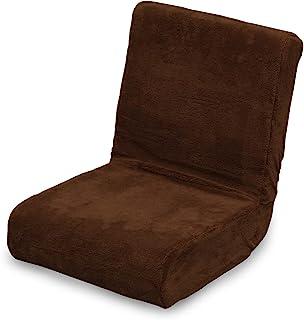 アイリスオーヤマ(IRIS OHYAMA) 日式无腿椅 两用蓬松落地椅 紧凑型 可折叠易储藏 棕色 ZC-9