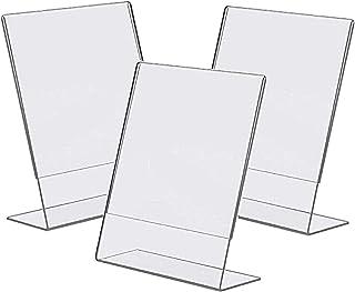 Bayou 显示器 8.5x11 透明塑料倾斜标志支架(3 件装)