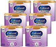 Mead Johnson 美赞臣 Enfamil NeuroPro Gentlease婴儿温和奶粉 可重复使用的奶粉罐,0-12个月/-MFGM,Omega 3 DHA,铁(包装可能有所不同),19.5盎司/约552.8