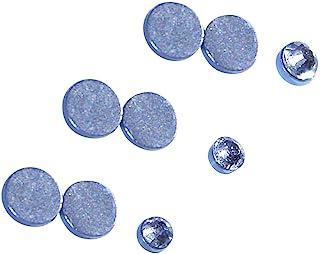 2mm 高 三小圆形切割 CZ 不锈钢磁性耳钉 - 假穿孔
