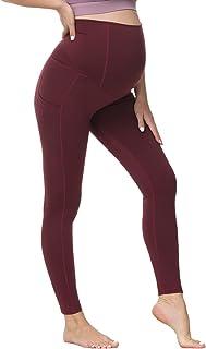 Maacie 女式孕妇瑜伽裤侧面印花运动长裤