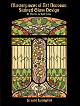 Masterpieces of Art Nouveau Stained Glass Design: 91 Motifs in Full Color (Dover Pictorial Archive) (English Edition)