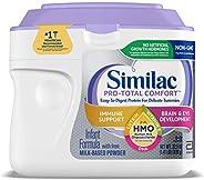 Similac 雅培 Pro-Total Comfort嬰兒奶粉,1段 0-12個月,溫和成分,含有2'-FL HMO,粉狀,22.5盎司/638克