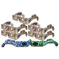 HolidayEyes(R) 天使圣誕* 6 副組合裝 -5 個天使眼鏡和 1 個圣誕/新年煙花眼鏡 -全部折疊,隨時可戴