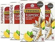 Twinings川宁 Super Blends 姜黄茶包 4件装 80个茶包