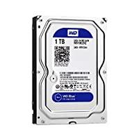 Western Digital 西部数据 WD Blue WD10EZRZ PC硬盘驱动器,5400 RPM级,SATA 6 Gb / s,64 MB缓存,3.5英寸(约8.89厘米),1TB