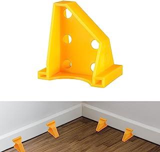 *地板垫片,层压木地板工具,兼容乙烯基木板,硬木和浮地板安装等,硬木地板,带 1/4 和 1/3 间隙,特殊三角固定(30,黄色)