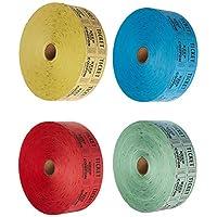 拉夫格票 - (4 卷 2000 張雙票)共 8,000 張 50/50 紗夫票(藍色/*/紅色/黃色)