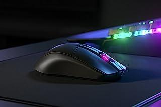 SteelSeries 赛睿 Rival 3 无线游戏鼠标 - 400 小时以上的电池寿命 - 双无线 2.4 GHz 和蓝牙 5.0-600 万点击 - 18,000 CPI TrueMove 空气光学传感器(62521)