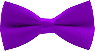 Pylrus 男孩预系结领结可调节长度经典绸缎儿童领结