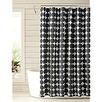 Marimekko Pienet Kivet 淋浴帘,黑色