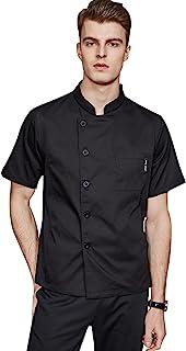 男式轻质厨师外套短袖厨师夹克 2021 夏季新款