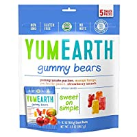 YumEarth Gummy Bears, Assorted Flavors, 5 Snack Packs