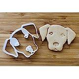 拉布拉多寻回犬饼干模具和狗食剪刀 - 狗脸