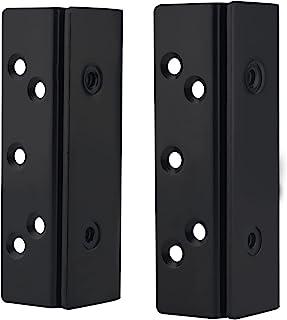 DERRILLA 床框 床柱 双钩槽 挂钩板插槽支架 木制床五金配件支架 2 件套