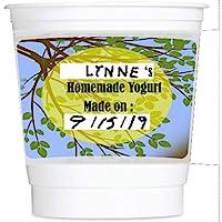Yo-green 8 盎司可重復使用酸奶杯帶記號筆和擦拭解決方案:7 件裝