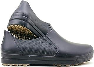 女士粘性一脚蹬工作鞋 - 哺乳 - 厨师 - 防水防滑舒适鞋