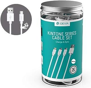 Devia Kintone USB 数据线 Lightning / 8 极 2 A 1 米 白色 30 件