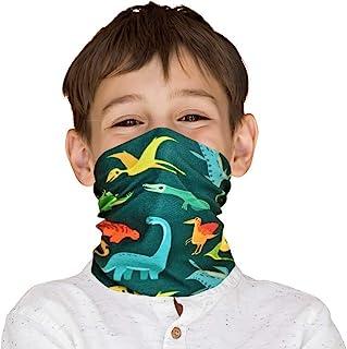 儿童恐龙颈绑腿头巾巴拉克拉法帽多功能面罩头饰 面罩 围巾 防尘 防风*