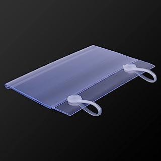 18 件装透明彩色塑料线架价格标签夹标志架显示标签价格卡标签适用于家庭办公室超市货架 4 x 2-5/16 英寸