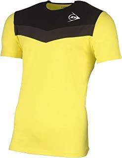 Dunlop 中性款 72248-S Essential Line T 恤,亮黄色/煤黑色,S 码