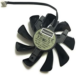 T129215SU 显卡风扇 VGA 散热器 适用于蓝宝石 RX470D 4G D5 RX570 RX 570 ITX R9 370 1024SP 4G/2G V2 OC 显卡散热(长电缆单冷却风扇)