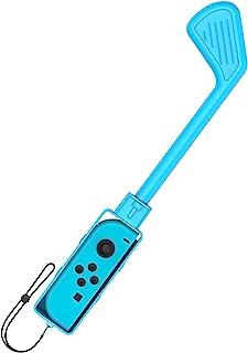 F FINEC 高尔夫球杆控制器,适用于 Nintendo Switch 迷你高尔夫球杆手柄,高尔夫游戏配件带腕带