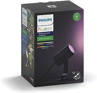 Philips 飞利浦 Hue 白色和彩色 Ambiance LED 花园照明灯 Lily 基础套装 可调光 高达 1.6 千万种颜色 通过应用程序控制 兼容 Amazon Alexa(Echo Dot) 1er Erweiterung 7 x...