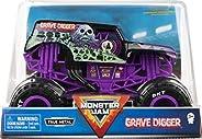 Monster Jam,官方墓地挖掘者怪物卡车,收藏家压铸车辆,比例 1:24(紫色)