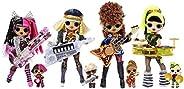 L.O.L. Surprise! OMG Remix Super Surprise 70多种惊喜玩具,可以播放音乐,4个时尚娃娃和4个妹妹娃娃,摇滚乐器,吊杆包装和摇滚乐队配件 | 适合4岁以上的人群