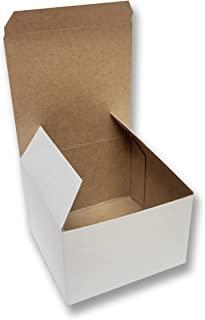 Charm Your Prince 糖果盒 - 白色光泽 - 3x3x2 一次性礼品盒 - 25 件装