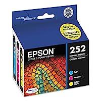 Epson T252520 DURABrite 超标准容量彩色墨盒,多包 3pack (C/M/Y - 252) 青色、品红色和黄色