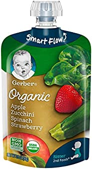 Gerber 嘉宝 Organic 2nd Foods 婴幼儿辅食,苹果,西葫芦,菠菜,草莓,12包