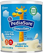 Similac 雅培 PediaSure Grow & Gain 无麸质儿童营养奶粉,含蛋白质,DHA,抗氧化剂,维生素和矿物质,香草味,14.1盎司/400g