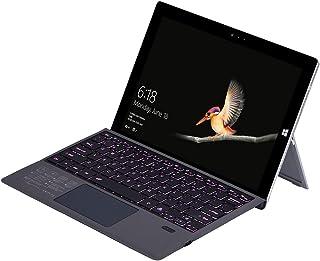 Surface Pro 7 无线蓝牙键盘保护套,带触摸板 7 色背光可充电电池可拆卸键盘 适用于 Microsoft 微软 Surface Pro 3/4/5/6/7