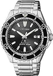 CITIZEN 西铁城 男士指针式太阳能手表,不锈钢表带,BN0190-82E