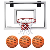 GoSports 篮球门环,带 3 个优质篮球和泵