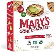 Mary's Gone Crackers 原创饼干,*糙米、亚麻籽和芝麻籽,不含麸质,6.5 盎司(约 184.3 克)(6
