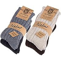 BRUBAKER 厚羊驼图案冬季袜 * 羊驼色 - 4 双 多种颜色 EU 43-46 / US 9-11.5