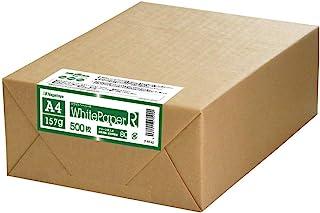 *采购法 长门屋商店 白色纸 R 环保纸 A4 157g 【*厚口】 500张 娜-RT42 ISO白色度约70%