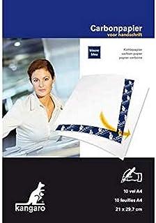 Kangaro Kangaro Carbon Paper A4 21 x 29 cm 10 Sheets 蓝色