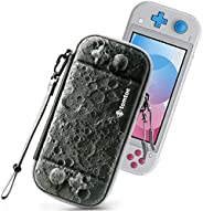 Tomtoc Nintendo Switch Lite 超薄便携包,保护性便携式便携包,[原始*],旅行存储硬壳,带 8 个游戏盒和*级保护,月光和月亮