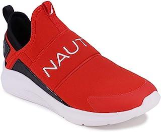 Nautica 男士休闲时尚运动鞋 - 步行鞋 - 轻便慢跑鞋(系带/可调节绑带)