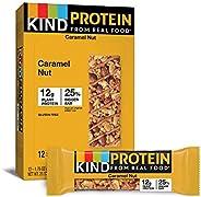 KIND 蛋白质棒,烤焦糖坚果,无麸质,12克蛋白质,1.76盎司/50克,12支
