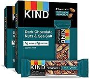 KIND 黑巧克力坚果和海盐营养棒,无麸质,低糖 24支